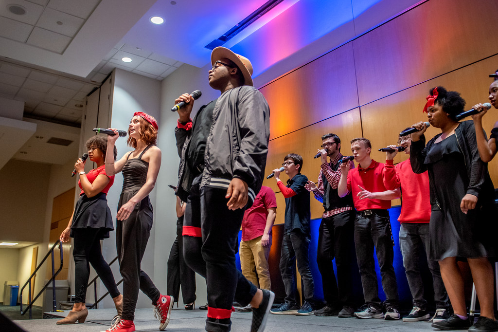 UNCG's Note Control performs three songs at the inaugural UNCG acappella event AccapellaFest.