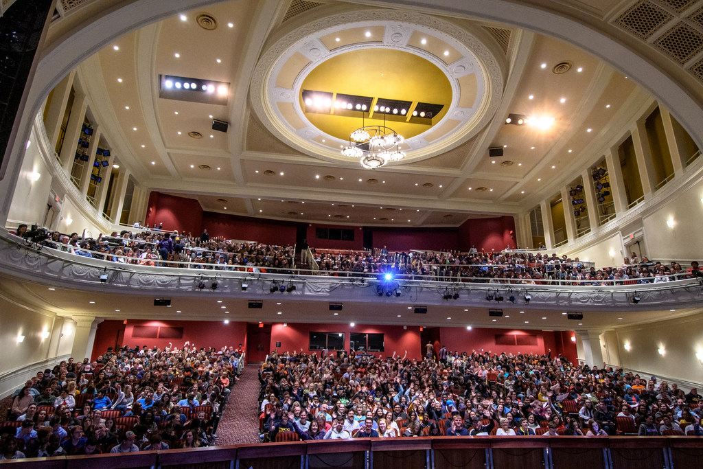Destination UNCG, an open house event for admitted students and family members, begins in beautiful UNCG Auditorium.